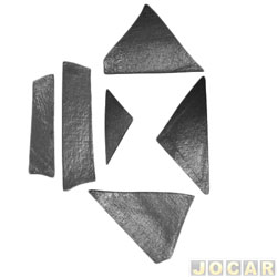 Anti-ruído do capô - Toroflex / Vibrac System - Gol/Parati/Saveiro/Voyage 1980 até 1986 - auto-adesivo - preto - jogo - 00815