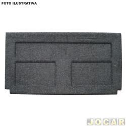 Tampão do porta-malas - alternativo - Riverplast - Gol 1980 até 1994 - cinza chumpo - carpete - sem corte de limpador - cada (unidade) - 1406