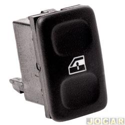 Interruptor do vidro - Kostal - Gol 1988 até 1994 - Santana 1987 até 1990 - simples - cada (unidade) - 3838415