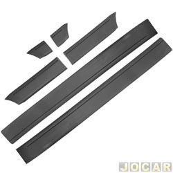 Friso lateral - alternativo - Gol/Parati/Voyage GL/GLS 1987 até 1994 - largo - 12 cm de largura - autoadesivo - cinza - jogo