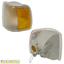 Lanterna dianteira - alternativo - Cofran - Gol 1991 até 1994 - defletor amarelo - encaixe Cibié - cristal (branca) - lado do motorista - cada (unidade) - 3329.3