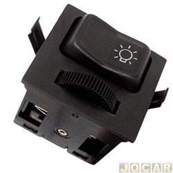 Interruptor do farol - Kostal - Gol 1988 até 1994 - Saveiro 1988 até 1997 - Santana 1984 até 1992 - com reostato - para painel modelo CL - cada (unidade) - 3847218