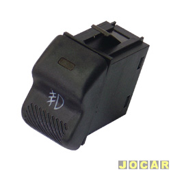 Interruptor do farol de milha - Kostal - Gol/Parati/Saveiro 1995 até 1999 - luz amarela - cada (unidade) - 3109020