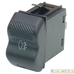 Interruptor do farol de milha - Kostal - Gol/Parati/Saveiro - 1995 até 1999 - luz verde - cada (unidade) - 3109021