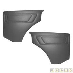 Revestimento lateral traseiro - alternativo - Gol 1980 até 1994 - cinza escuro - par