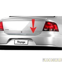 Friso aplique do capô traseiro - Sport Inox - Voyage 2009 até 2012 - auto colante - resinado - aço escovado - cada (unidade) - VW014FSIE