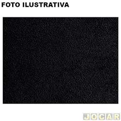 Forração do teto (tapeçaria) - Parati 1987 até 1995 - preto - veludo - jogo