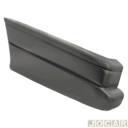 Ponteira do para-choque traseira - alternativo - Saveiro - 1995 até 1997 - preto - lado do motorista - cada (unidade)