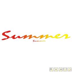 Faixa adesiva - alternativo - Saveiro 1995 até 1997 - Summer - vermelho e amarelo - jogo