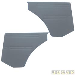 Revestimento lateral traseiro - alternativo - Parati 1982 até 1995 - cinza - par
