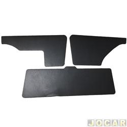 Revestimento do porta-malas - alternativo - Parati 1987 até 1995 - com limpador - preto - jogo