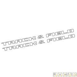 Faixa adesiva - alternativo - Parati Track & Field 2006 até 2013 - TRACK & FIELD - grafite - jogo