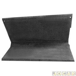 Tampão do porta-malas - alternativo - Parati 1982 até 1995 - de madeira - grafite - cada (unidade)