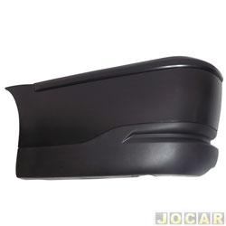 Ponteira do para-choque traseira - Plascar - Saveiro 2003 até 2009 - lado do motorista - cada (unidade) - 5X7.807.473