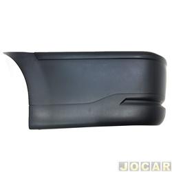 Ponteira do para-choque traseiro - importado - Saveiro 2003 até 2009 - lado do motorista - cada (unidade) - 27261