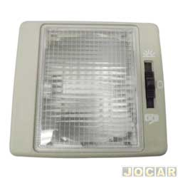 Lanterna de teto - alternativo - Santana 1991 até 2002/Quantum 1992 até 2002 - cinza - cada (unidade)