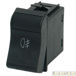 Interruptor do farol de milha - alternativo - Santana/Quantum 1991 até 1998 - 2 estágios - lanterna de neblina - preto - cada (unidade)