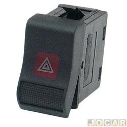 Interruptor de emergência - alternativo - Santana/Quantum 1991 até 1998 - preto e vermelho - cada (unidade)