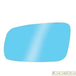 Lente do retrovisor sem base - Flabeg (Refil) - Gol/Parati/Saveiro 2000 até 2008 - Santana 1999 até 2006 - azul - lado do motorista - cada (unidade) - 1181