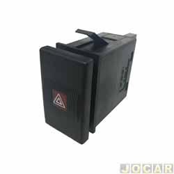 Interruptor de emergência - Kostal - Santana/Quantum 1998 até 2006 - preto - cada (unidade) - 3042000