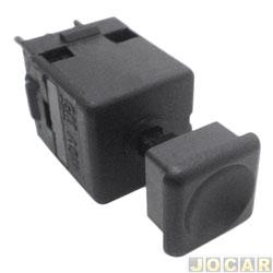 Interruptor do retrovisor - Kostal - Santana/Quantum 1998 até 2006 - botão de regulagem - preto - cada (unidade) - 3838206
