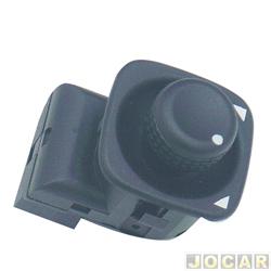 Interruptor do retrovisor - Santana/Santana Quantum - 1991 até 1998 - Royalle - Versailles - Gol/Parati/Saveiro - 1995 até 1999 - preto - cada (unidade)