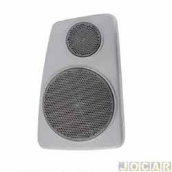Tela do alto-falante - alternativo - Apollo/Verona 1990 até 1993 - Bagagito - cinza - lado do motorista - cada (unidade)