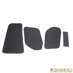 Anti-ruído do capô - Toroflex / Vibrac System - Logus/Pointer 1993 até 1997 - auto-adesivo - preto - jogo - 00821