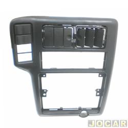Moldura do painel do rádio - alternativo - Polo classic 1996 até 2002 - Seat Cordoba 1995 até 2001 - cod:AP383 - preta - cada (unidade)
