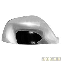 Aplique capa do retrovisor - Amarok 2010 até 2016 - auto-adesiva - cromado - lado do passageiro - cada (unidade)