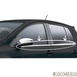Friso da janela - alternativo - Fox 2003 em diante - Aplique - auto colante - cromado - jogo