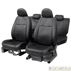 Capa para banco - Car Fashion - Fox/CrossFox/Space Fox 2003 em diante - em courvin - assentos dianteiro/traseiro - preto - jogo - 1110