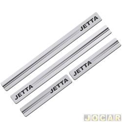Aplique da soleira - Sport Inox - Jetta 2011 até 2016 4 portas - resina aço escovado - autoadesivo - jogo - VW032E4P