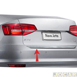 Friso aplique do capô traseiro - Sport Inox - Jetta 2015 até 2017 - auto colante - resinado - aço escovado - cada (unidade) - VW024FSIE