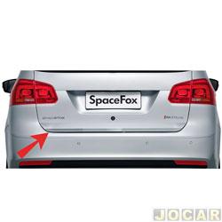 Friso aplique do capô traseiro - Sport Inox - Spacefox 2011 em diante - auto colante - resinado - aço escovado - cada (unidade) - VW016FSIE