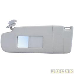 Quebra-sol - Newtec - Polo 2003 até 2014 - com espelho e lanterna - cinza claro - lado do motorista - cada (unidade) - NT3201CVW