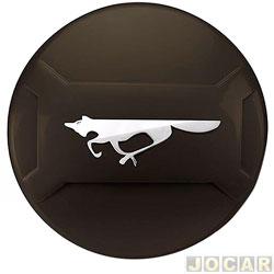 Capa de estepe - Marçon - CrossFox 2011 em diante - Preto Ninja - Com Cadeado - cada (unidade) - CF-002