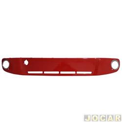 Moldura do para-choque - importado - up! 2014 até 2017 - central - vermelho flash-com furo-para milha - dianteiro - cada (unidade) - 193282