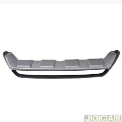Aplique da grade do para-choque - TG Poli - Amarok 2017 em diante - aluminium - preto e prata - dianteiro - cada (unidade) - 02.297