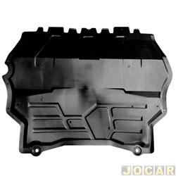 Defletor protetor inferior para-choque - importado - Tiguan 2007 até 2011 - preto - cada (unidade) - 29022