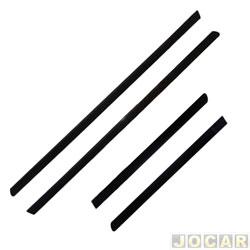 Friso lateral - alternativo - Fox 2003 até 2009 - 2 portas - auto colante - preto - jogo