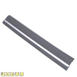 Borrachão do para-choque - alternativo - Opala/Caravan 1985 até 1987 - preta com friso cromado - dianteiro - lado do motorista - cada (unidade)