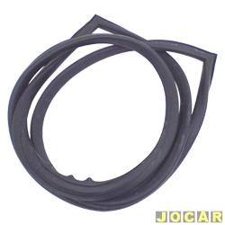 Borracha do vidro traseiro - Opala 1985 até 1992 - 4 portas - com encaixe para friso de plástico - preta - cada (unidade)
