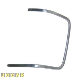 Friso da lanterna dianteira - alternativo - Opala/Caravan 1980 até 1987 - escovado - lado do motorista - cada (unidade)