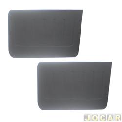 Revestimento de porta - alternativo - Opala 1969 até 1992 - 4 portas  - preto - dianteiro - par