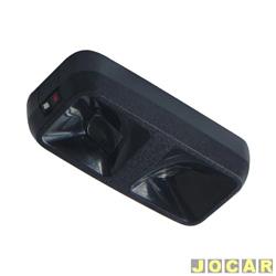 Lanterna de teto - alternativo - Opala - Monza - leitura - preta - cada (unidade)