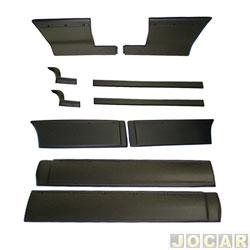 Friso lateral - alternativo - Opala Diplomata 1991 até 1992  - 4 portas - fixado com parafuso e fita adesiva - preto - jogo