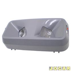 Lanterna de teto - Opala/Caravan 1969 até 1992 - para leitura - interruptores individuais - cinza - cada (unidade)