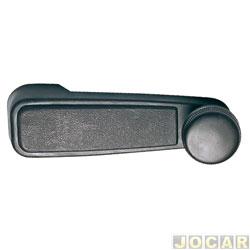 Maçaneta vidro da porta - Chevette/Opala 1985 em diante - Monza - metal - preta - cada (unidade)