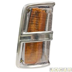 Lanterna dianteira - alternativo - JCV Lanternas - Opala/Caravan 1975 até 1979 - cristal (branca) - lado do passageiro - cada (unidade) - 201189